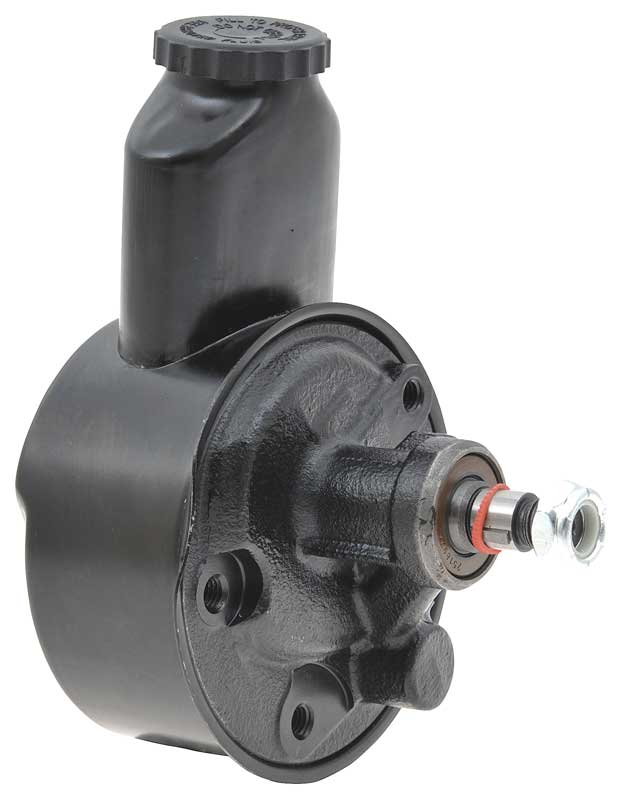 1961-72 6 Cylinder/Small Block Power Steering Pump With Reservoir Black