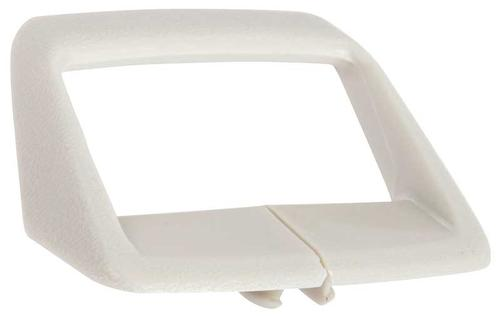 1974-80 Shoulder Harness Seat Belt Retainer - White - Various Models