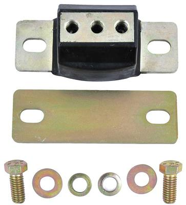 1967-01 Black Polyurethane Zinc Finish Transmission Mount - Custom Applications 1-5/8 Tall