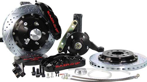 1970-81 GM - Baer 14 Pro+ Front Disc Brake Set with 2 Drop Spindles & Black Calipers