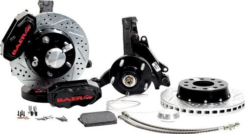 1970-81 GM - Baer 11 SS4+ Front Disc Brake Set withSpindles and Black Calipers