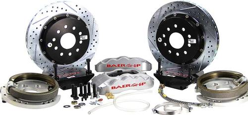 1978-87 Regal with Saginaw 10-Bolt Drum Baer Pro+ 13 Rear Brake Set with Silver Calipers