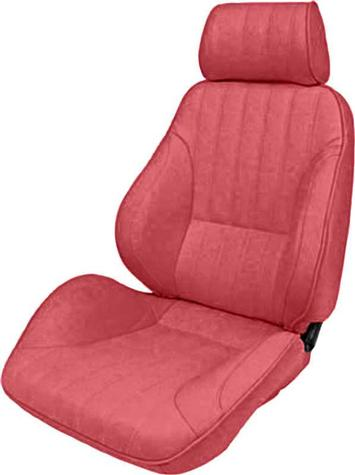 Procar Rally Maroon Vinyl Recliner Bucket Seat With Headrest; LH