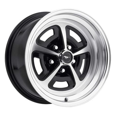 Legendary 15 x 8 Magnum 500 Alloy Wheel, 5 on 4.5 BP, 4.75 BS, Gloss Black - Machined