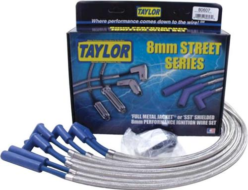 1978-86 Small Block with HEI Taylor SST Shielded Ignition Wire Set with 90°/180° Plug Boots