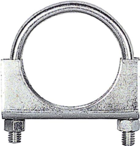 2- 1/2 Cadmium Plated Exhaust Clamp
