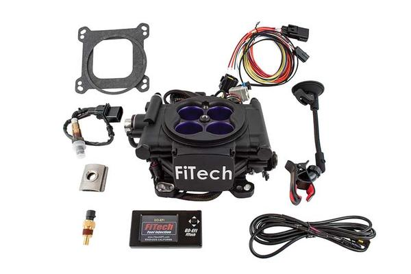 FiTech Mean Street Self Tuning Fuel Injection 400HP Cast Finish EFI Master Kit w/Fuel Command Center