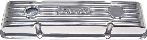 Chevrolet 350 Small Block Finned Polished Aluminum Low Profile Valve Covers