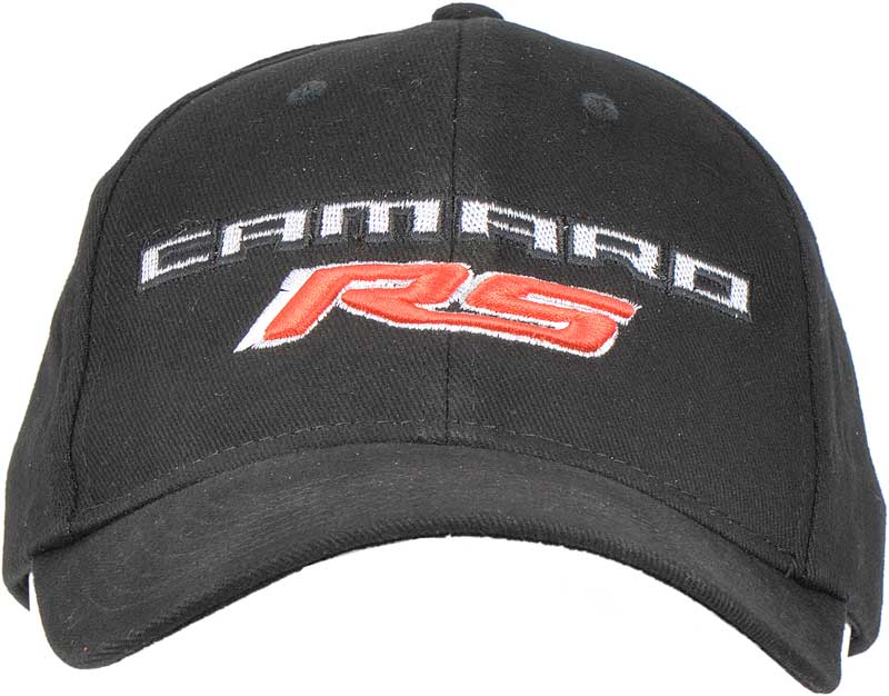 Black Camaro RS Logo Embroidered Cap
