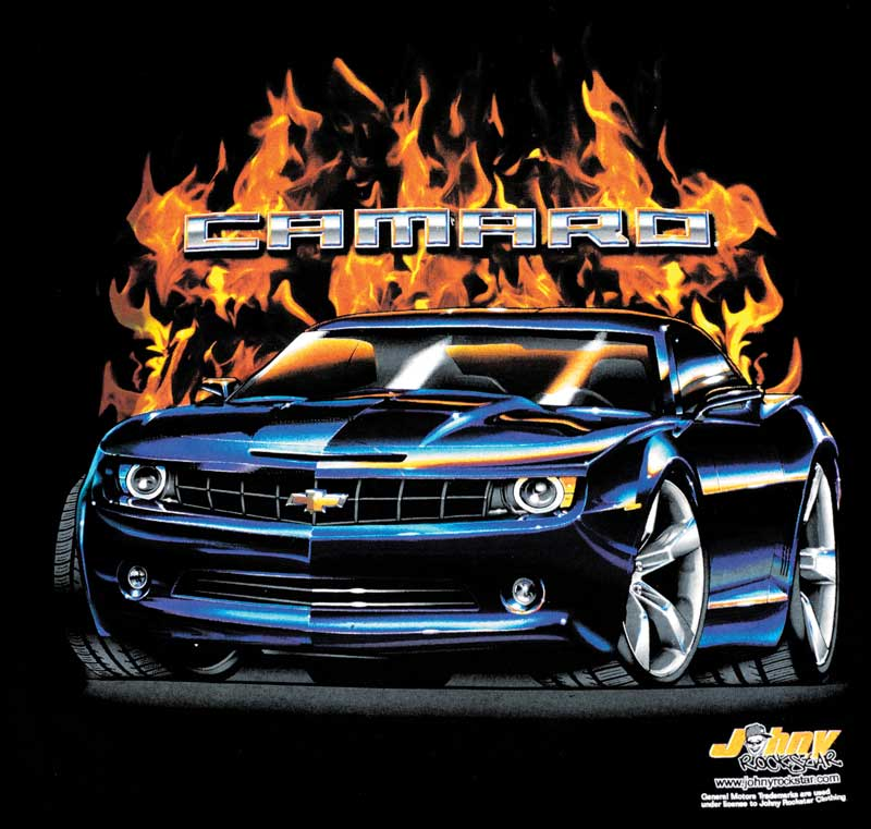 Flame Camaro T-shirt - Large