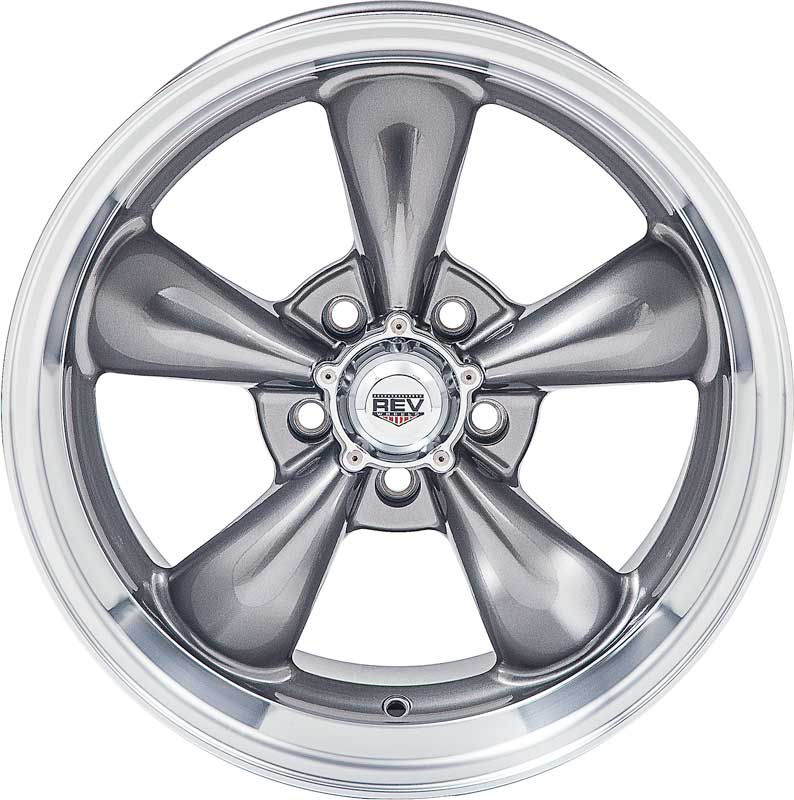 20 x 8 REV Classic 100 Wheel with Anthracite (Gray) Center and 5 x 4-1/2 Bolt Pattern