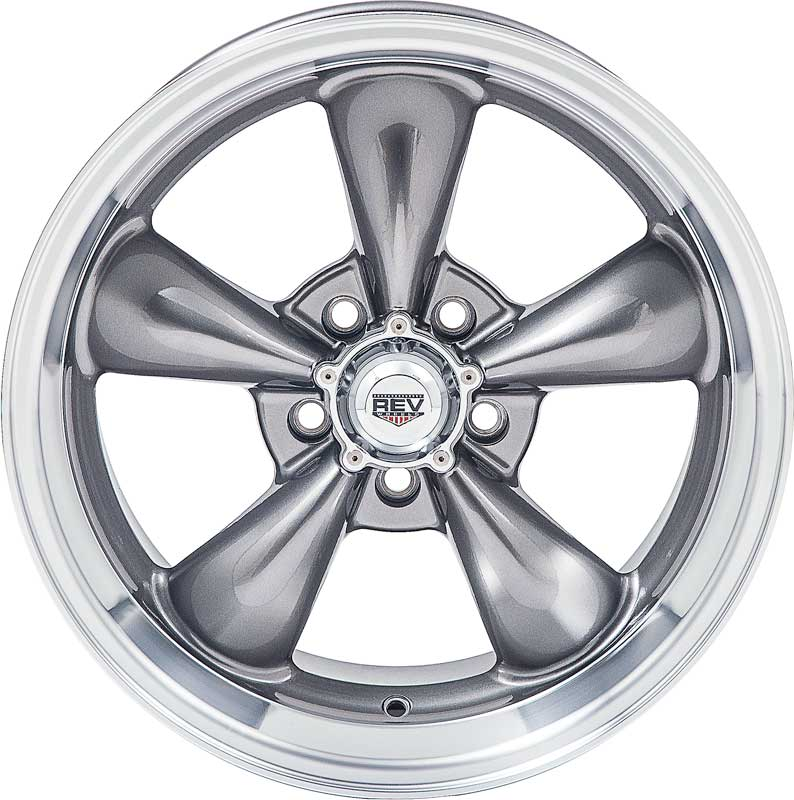 15 x 6 REV Classic 100 Wheel with Anthracite (Gray) Center and 5 x 4-1/2 Bolt Pattern