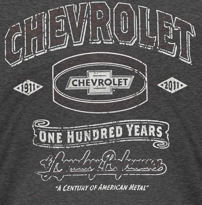 Mens Chevrolet Century Legendary Performance T-shirt - Heather Black - Small