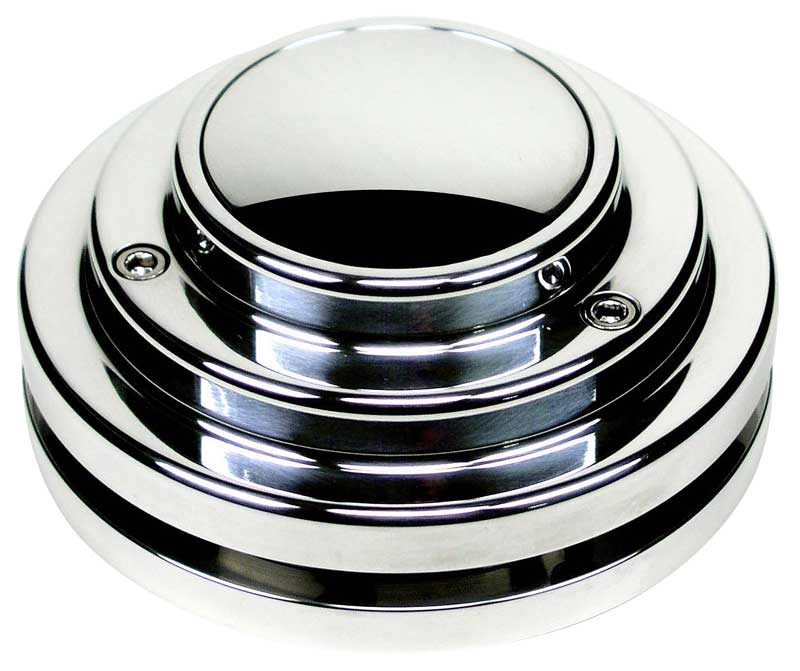 Ididit Chrome 9 Bolt Short Style Steering Wheel Adapter With Horn Button