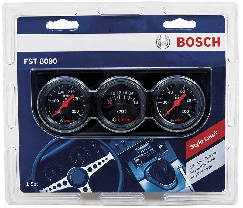 Bosch Mini Styleline Trio Black Dial Black Panel - 1-1/2
