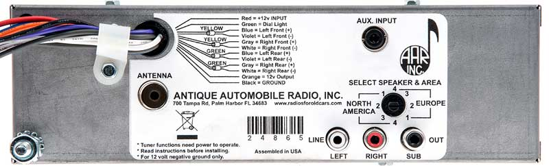 1947-53 Chevrolet Truck - Am/Fm Replacement Radio