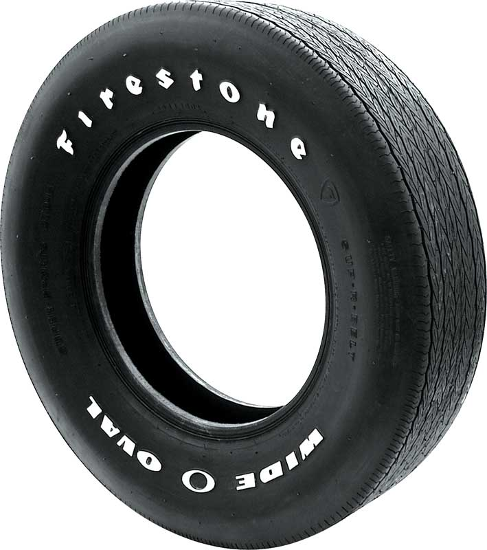 D70 x 14 Firestone Wide Oval Raised White Letter Tire