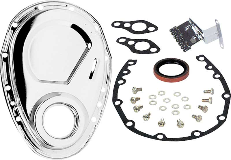 1955-91 Chevrolet 262-400 Small Block Chrome Timing Cover Set