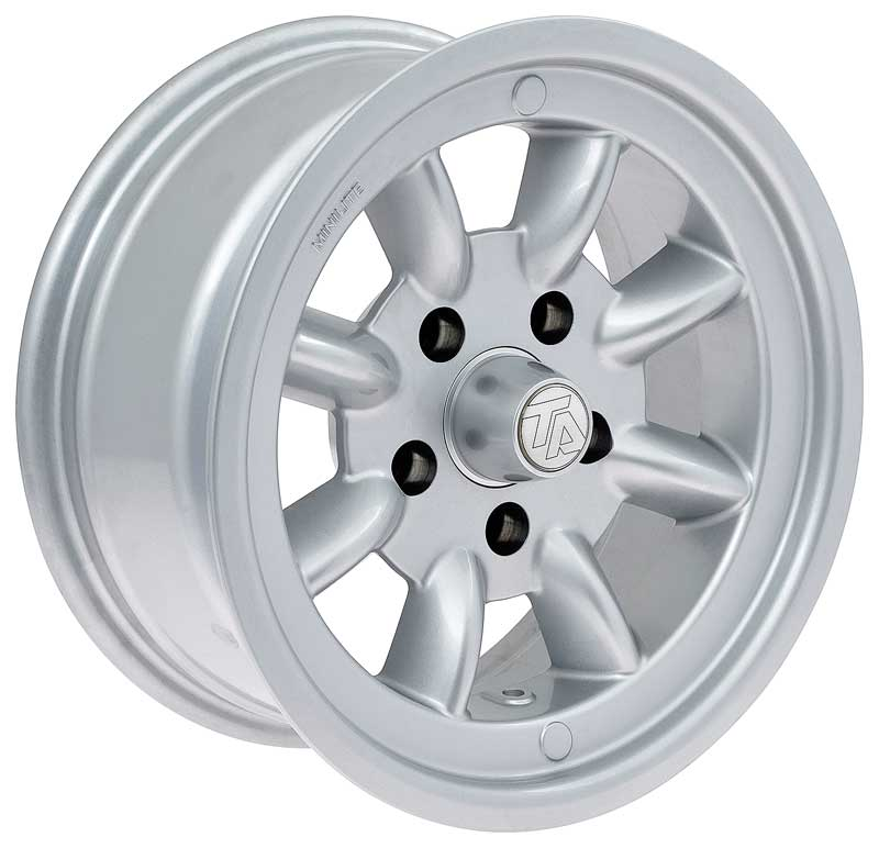 1955-81 GM Cars - 15 x 7 The Glen Wheel (Aluminum)-5 X 4.75 Bolt Pattern- Gray Finish