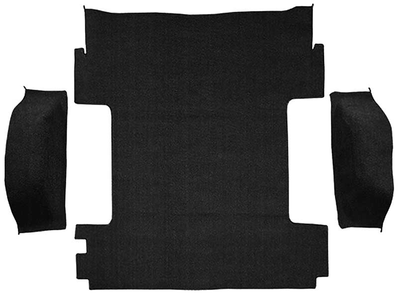 1969-72 Blazer / Jimmy Without CST Black Cargo Area Molded Loop Carpet Set