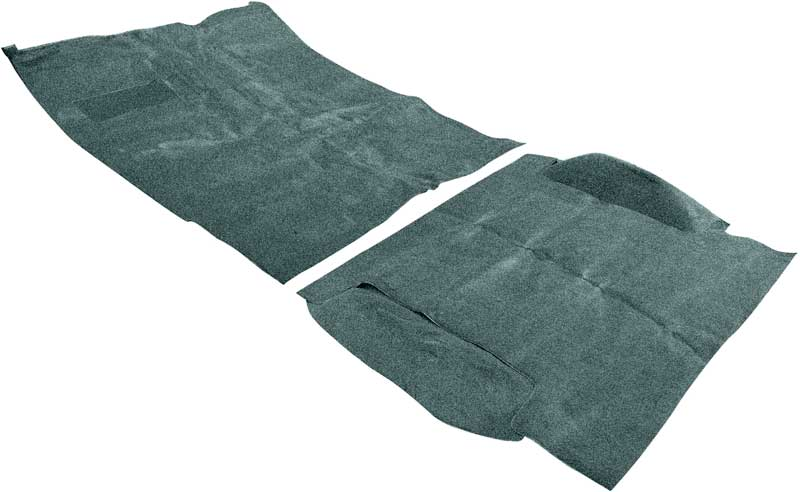1969-72 Blazer/Jimmy Without CST / High Hump Dark Green Complete Molded Loop Carpet Set