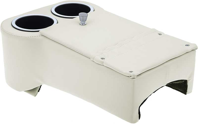 Classic Consoles Lowrider Floor Mount Console - White