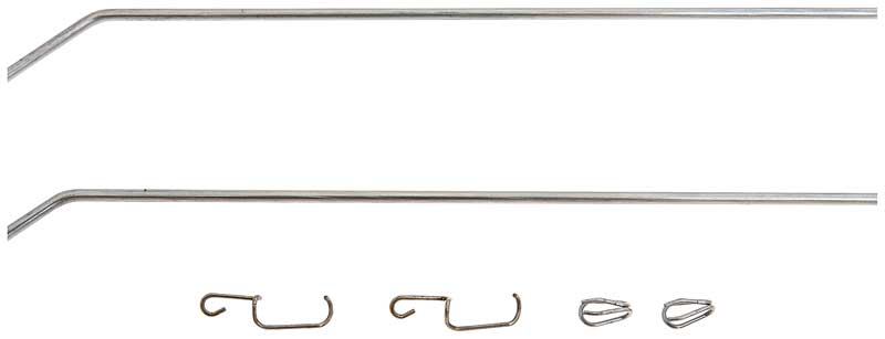 1955-57 Chevrolet Wagons (Except Nomad) & Delivery Sedan  - Tailgate Latch Rod Set