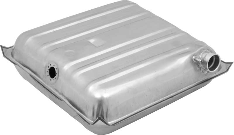 1957 Chevrolet Pass Cars (Ex Wagon) - Fuel Tank 16 Gal W/ Square Corners & Vent Tube - Zinc Coated
