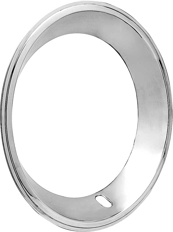15 Stainless Steel 2-3/8 Deep Step Lip Rally Wheel Trim Ring for Reproduction Wheels