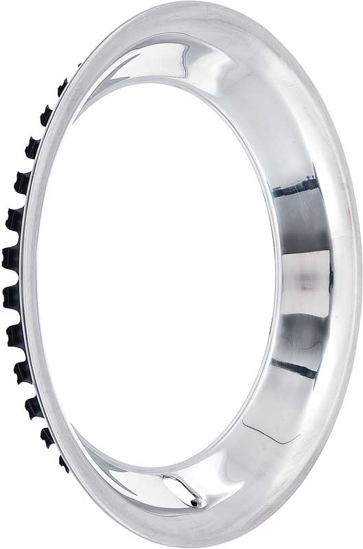 15 Stainless Steel 2-1/4 Deep Rally Wheel Trim Ring for Reproduction Wheels Only