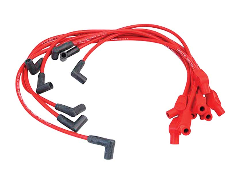 1986-93 Mustang 5.0, 5.8L Taylor Spiro-Pro 8mm Ignition Wire Set - Red