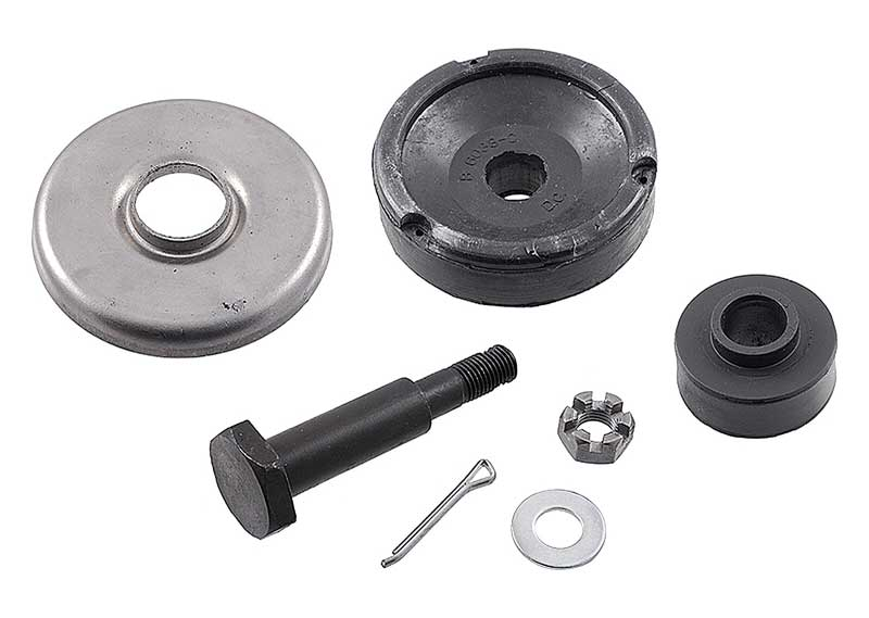 1948-51 Ford F-Series Truck Flathead V8 Rubber Front Upper Engine Mount Kit - F1 / F2 / F3