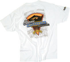 Classic Industries V-Power T-Shirt White - X-Large