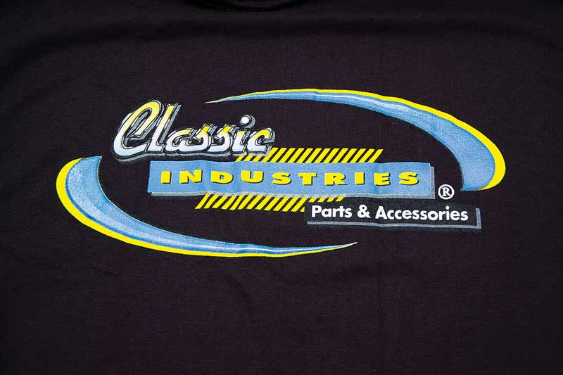 XXX-Large Black Classic Industries Logo T-Shirt