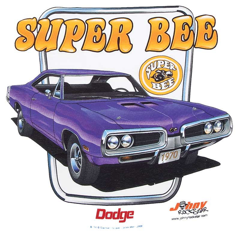 1970 Dodge Super Bee X-Large White T-Shirt