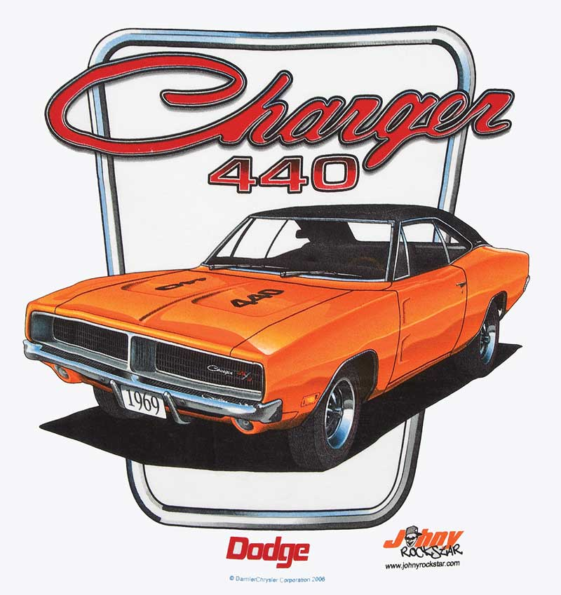 1969 Dodge Charger 440 X-Large White T-shirt
