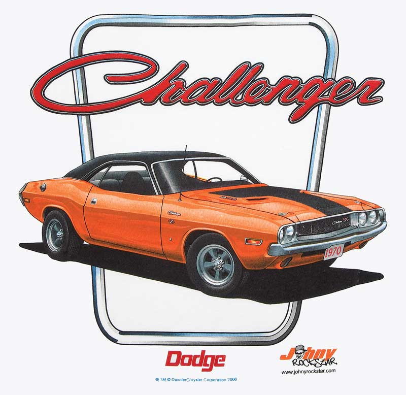 1970 Dodge Challenger X-Large White T-Shirt