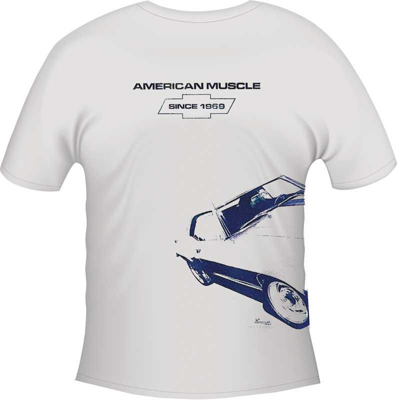 Small Adult Under Wraps 69 Camaro White T-Shirt