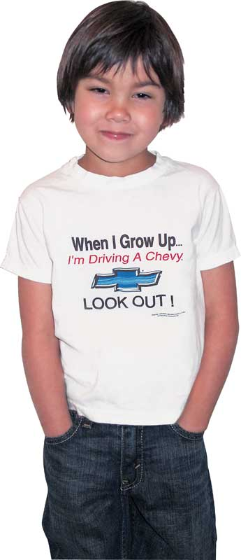 When I Grow Up Chevy Kids T-Shirt (2T)