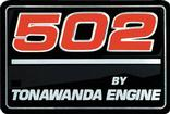 "1991-96 ""502 By Tonawanda Engine"" Valve Cover Decal"