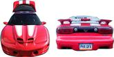 1998-02 Trans-Am / Formula with T-Tops White Ram Air Stripe Set with Hood Birds