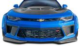 2016-17 Camaro - DriTech Carbon Fiber Front Air Duct Extensions (Pair)