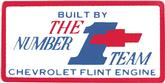1966-67 327 / 275HP #1 Team Flint Valve Cover Decal