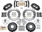 "1970-78 Superlite 6 Front Big Brake Disc Set with 13"" Slotted Rotors, Black Calipers for OE Spindles"