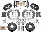 "1970-78 Superlite 6 Front Big Brake Disc Set with 14"" Slotted Rotors, Black Calipers for OE Spindles"
