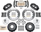 1979-81 SUPERLITE 6 BIG FRONT BRAKES DISC SPINDLES 14 SLOTTED ROTORS/BLACK CALIPERS