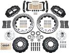 "1979-81 Superlite 6 Front Big Brake Disc Set with 14"" Drilled Rotors, Black Calipers for OE Spindles"
