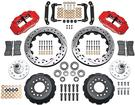 "1979-81 Superlite 6 Front Big Brake Disc Set with 14"" Drilled Rotors, Red Calipers for OE Spindles"