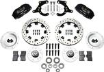 "1955-57 Dynapro 6 Front Big Brake Set with Black Powder Coated Calipers and 12.19"" Drilled Rotors"