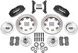 1970-78 Dynapro 6 Big Front Brakes Disc Spindles 12 Plain Rotors/Black Calipers